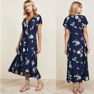NWT Free People Lost In you midi dress blue floral